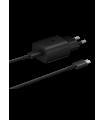 Tīkla lādētāja adapteris 25W Samsung EP-TA800NBEGEU black